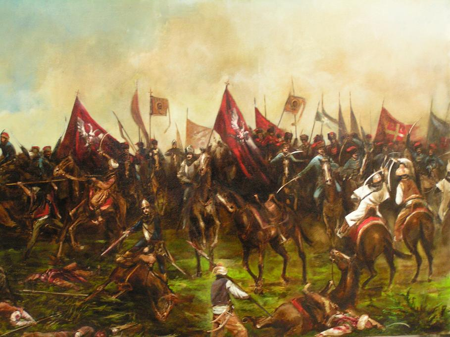 Battle of Kosovo 15th June 1389 / Serbian / for Serbian private interier, oil on canvas 125 x 210 cm, 2016
