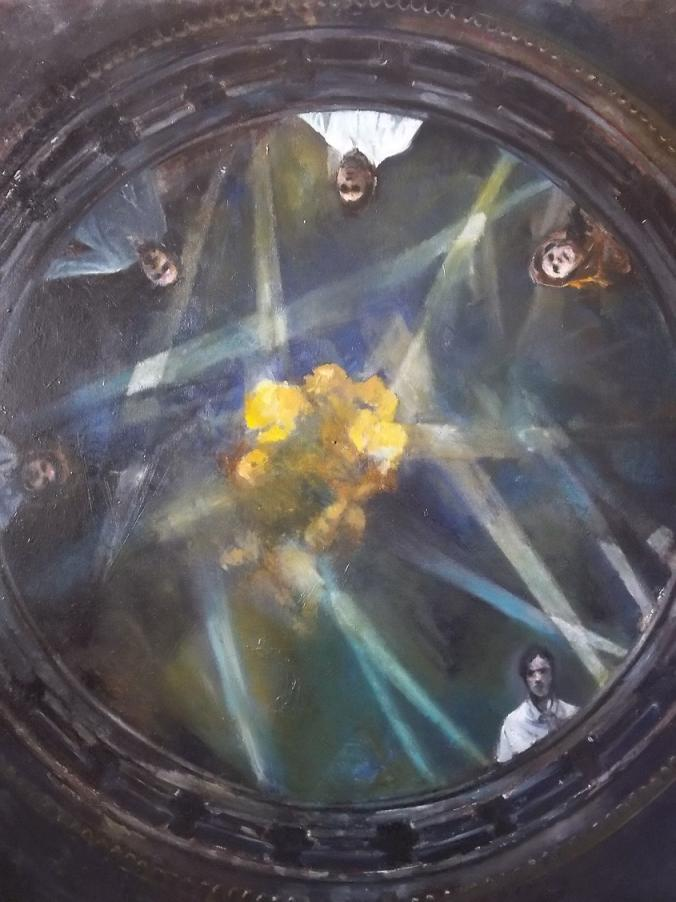 Blast - oil on canvas , 150 x 150 cm, 2016