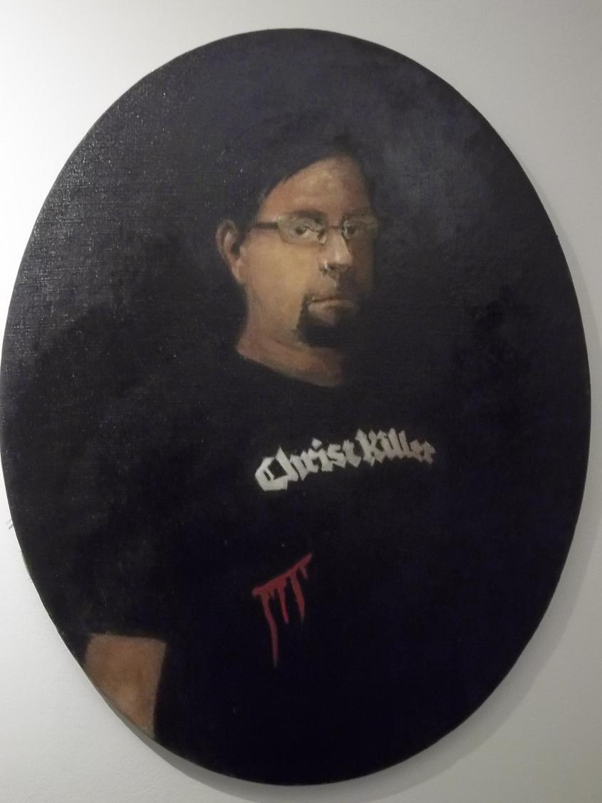 Christ Killer - portrait Ondrej Litecky, oil on canvas , 65 x 85 cm, 2016