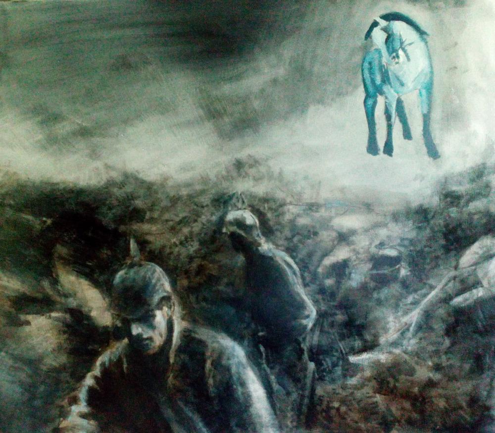Franz 4. 3. 1916 , oil on canvas 70 x 80 cm 2016