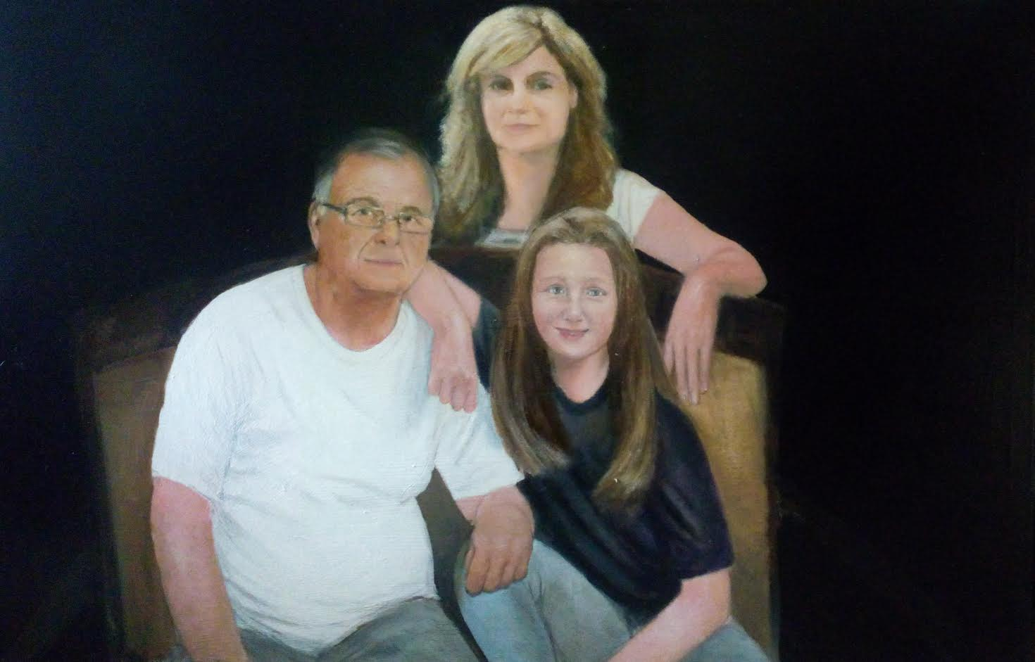 Family portrait for private interier