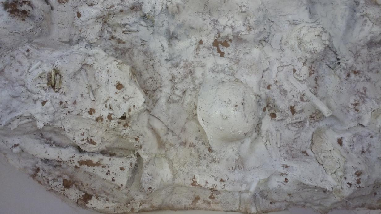 The Mud – Laminate, painting, 130cm-240cm-60cm, Detail