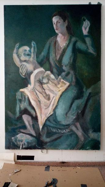 Repro of Caspar Neher - Madonna - Oil on canvas 100cm -150cm